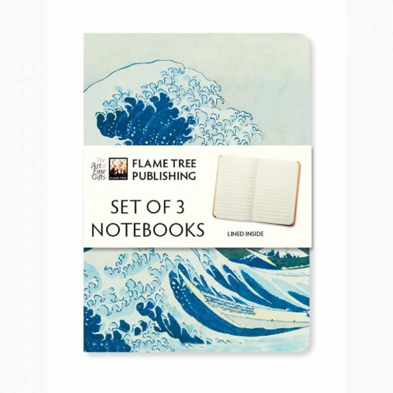 Set Of 3 Notebooks - Japanese Woodblock