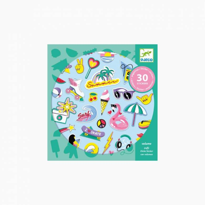 Set Of California Puffy Stickers By Djeco 4+