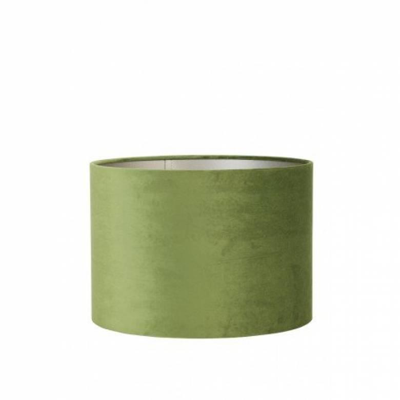 Olive Green Velvet Shade Gold Inside 35x30cm