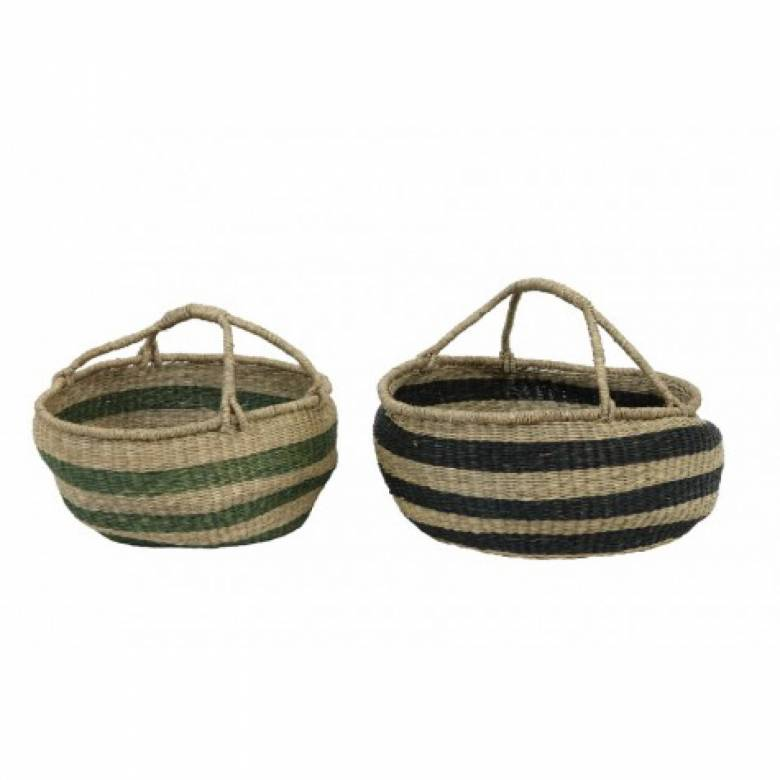 Afula Seagrass Basket Dark Green 60X26