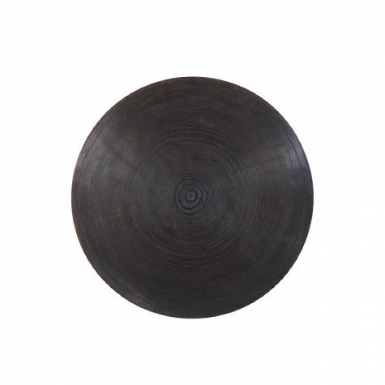 Trunk Circular Side Table In Bronzed Metal 45x47cm