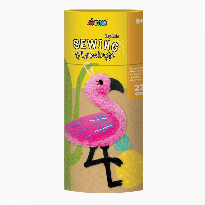 Keychain Sewing Kit - Flamingo 8+