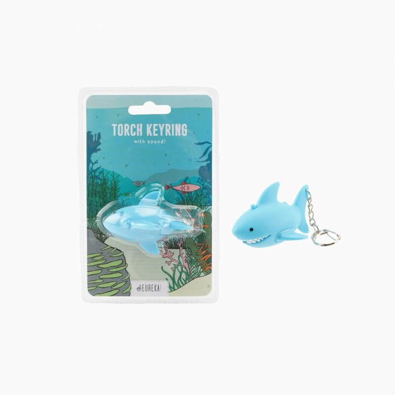 Shark Keyring With Torch And Sound