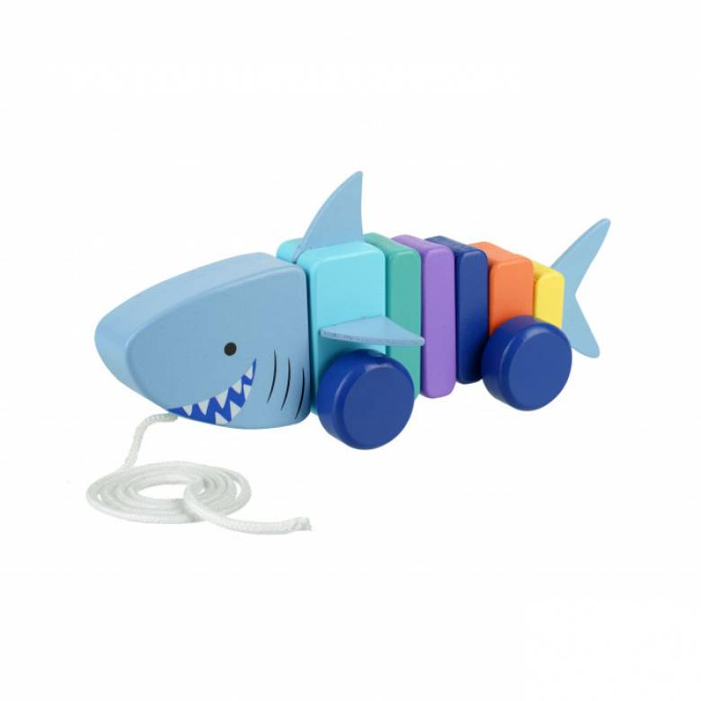 Shark Wooden Pull Along Toy 1+