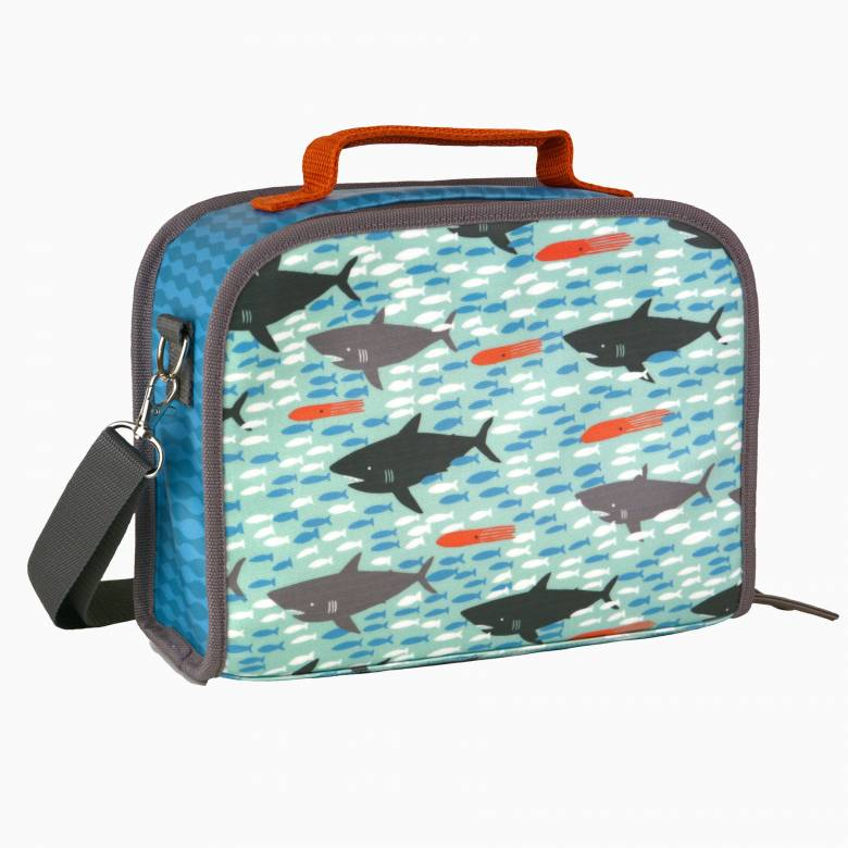 Sharks Lunch Bag With Carry Handle By Petit Collage