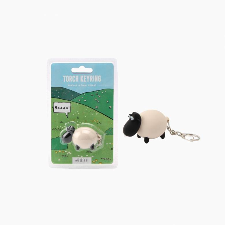 Sheep Keyring With Torch And Sound