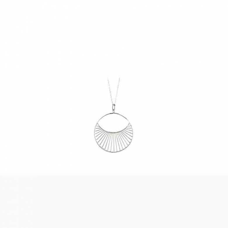 Short Daylight Necklace In Silver By Pernille Corydon