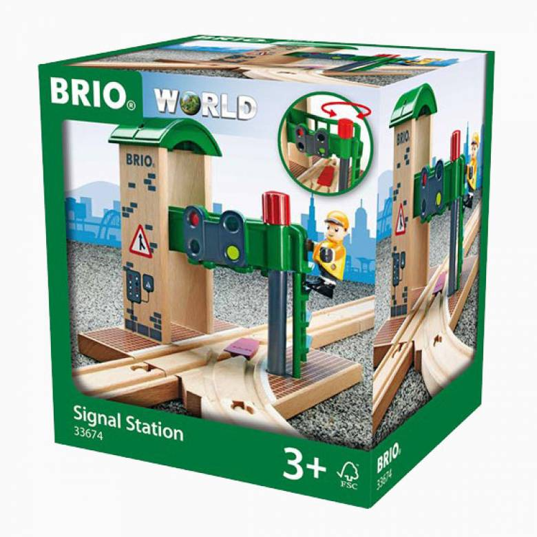 Signal Station BRIO Wooden Railway Age 3+