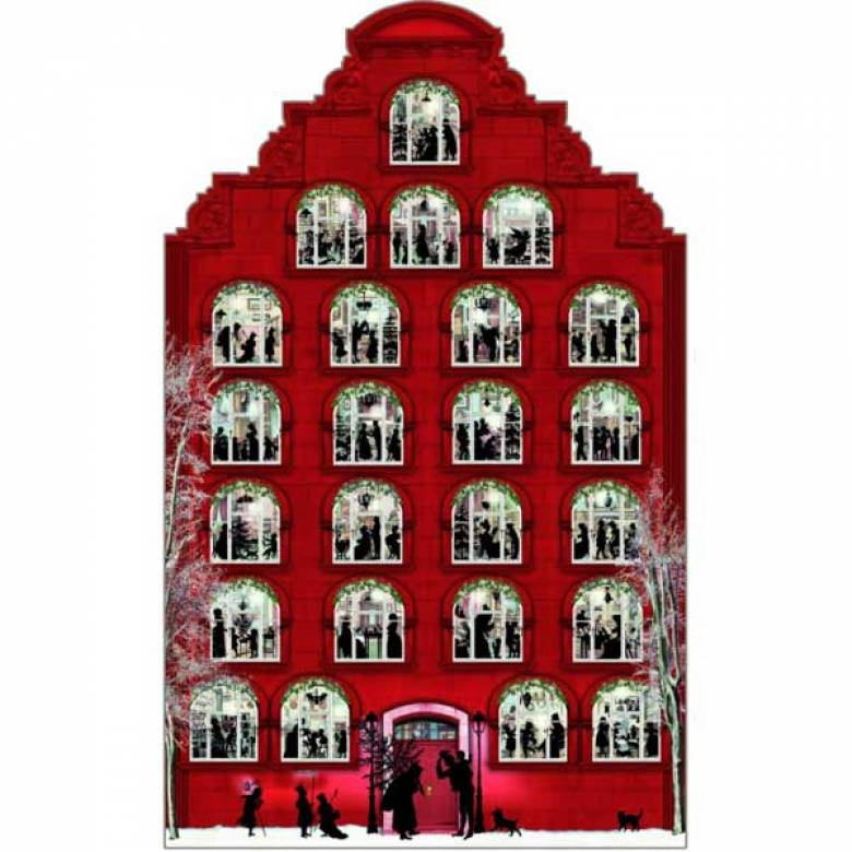 Silhouette Victorian Christmas House Advent Calendar