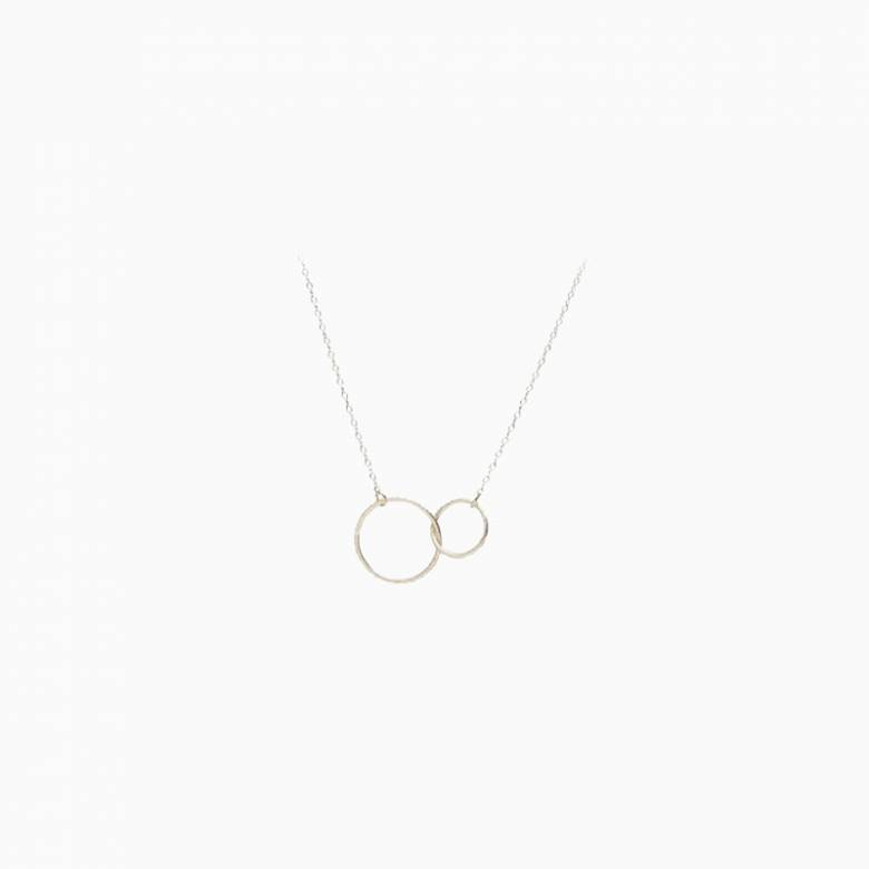 Silver Interlocking Hoop Necklace By Pernille Corydon