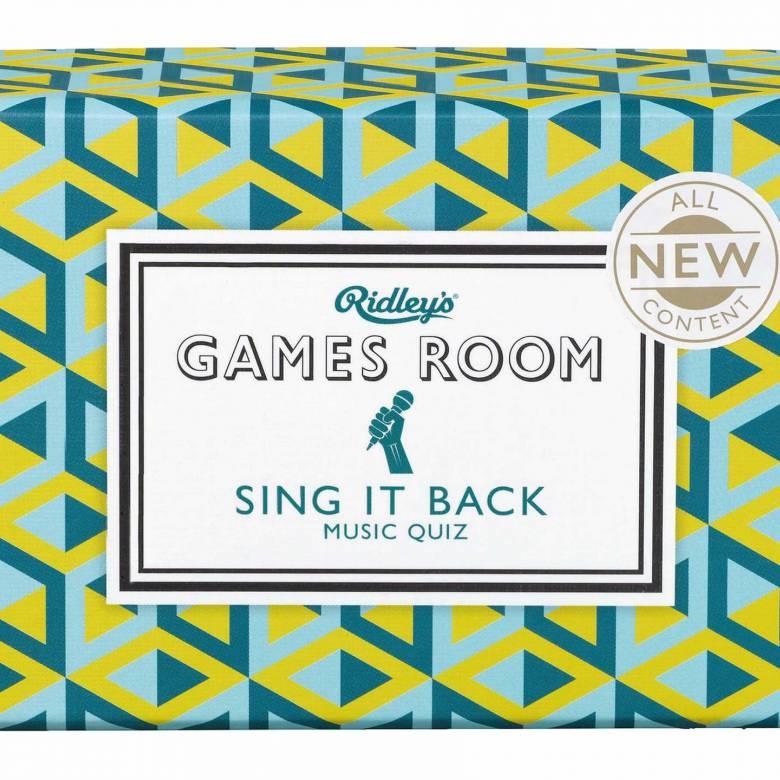 Sing It Back Quiz Game In Retro Box