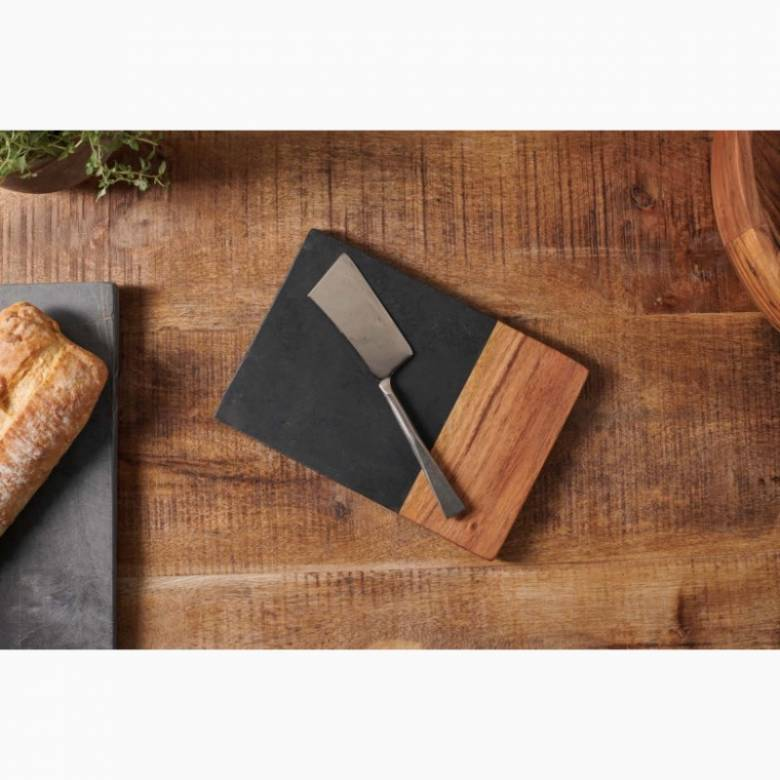Slate & Acacia Wood Small Chopping Board