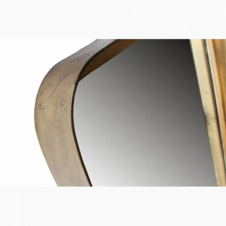 Slim Long Gold Rectangular Mirror L:145cm