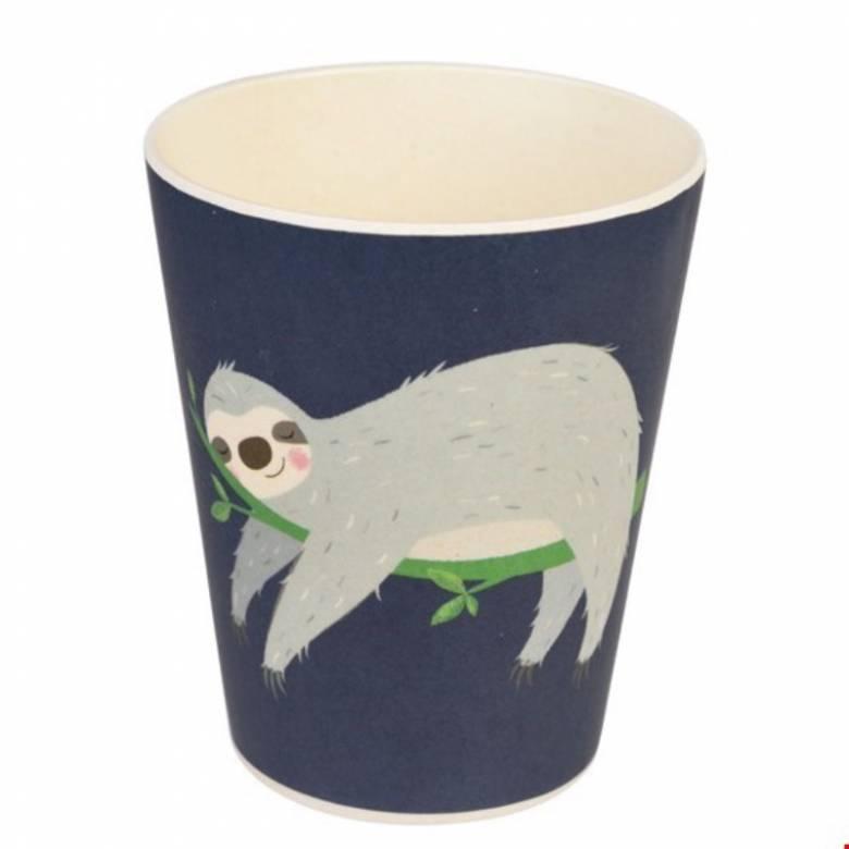 Sloth Bamboo Beaker