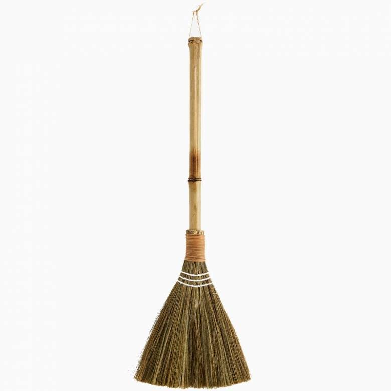 Small Bamboo And Straw Broom