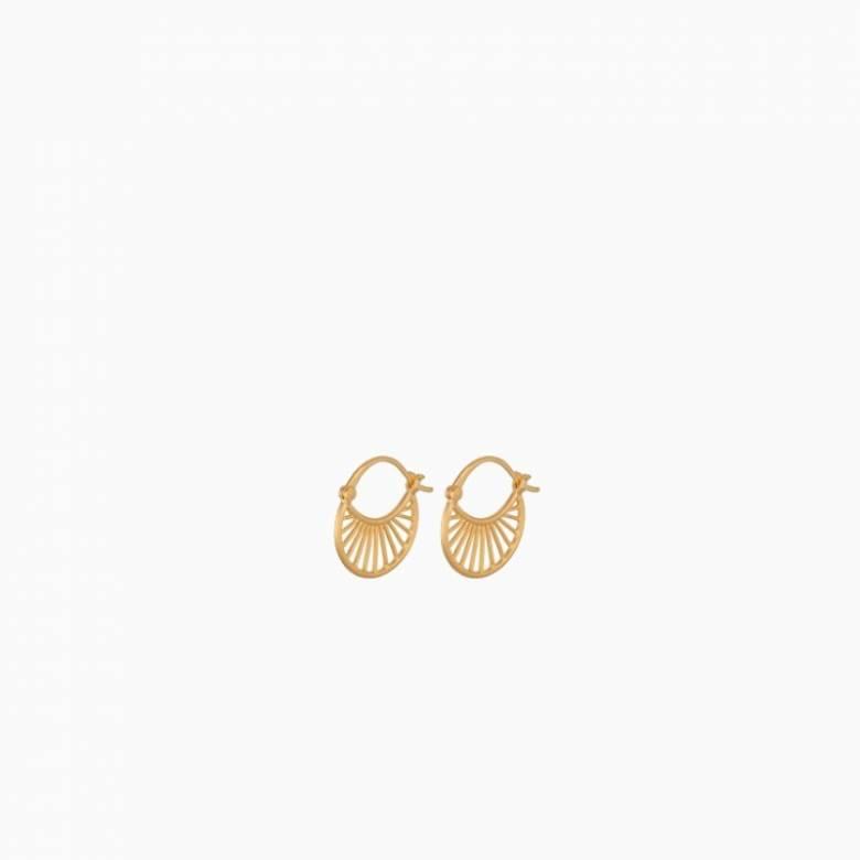 Small Daylight Hoop Earrings In Gold By Pernille Corydon