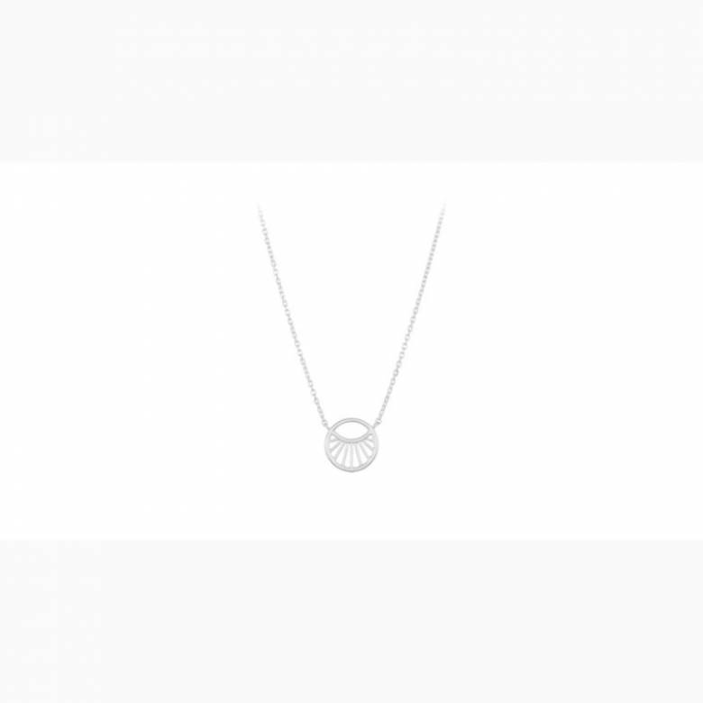 Small Daylight Necklace In Silver By Pernille Corydon