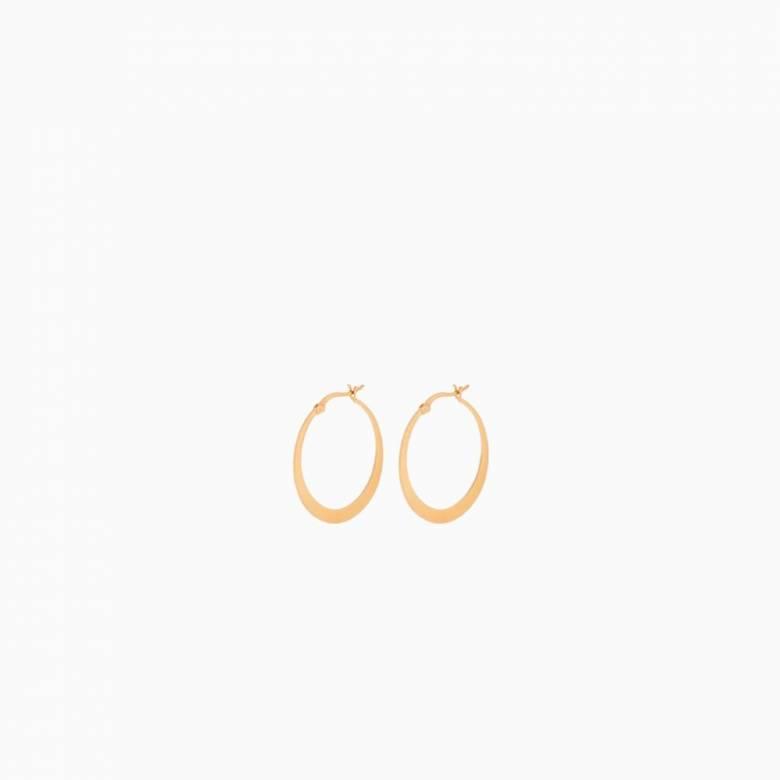 Small Escape Hoop Earrings In Gold by Pernille Corydon