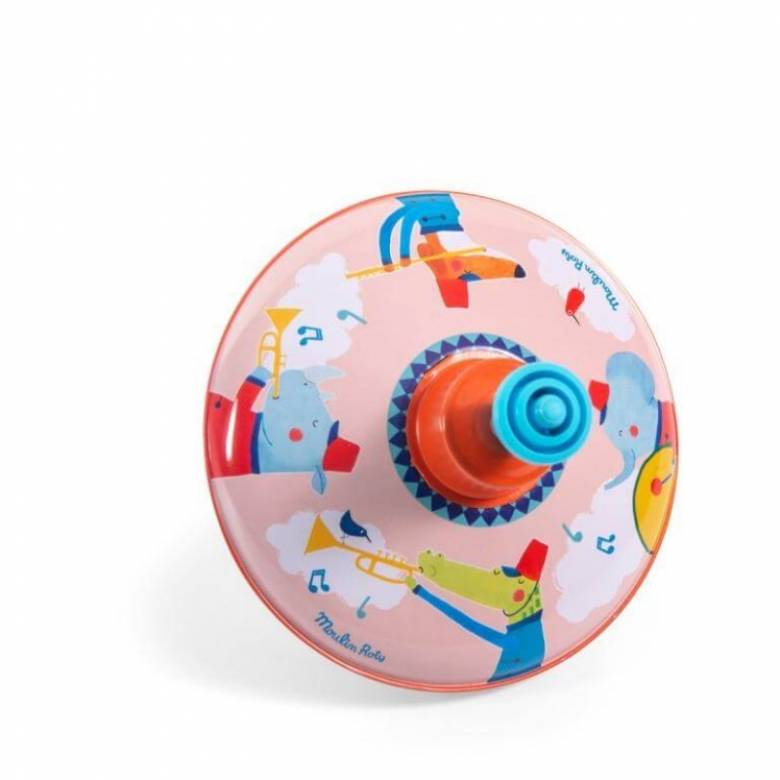Small Fanfare Print Metal Spinning Top 2+