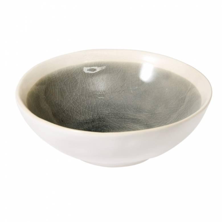Small Glazed Mezze Bowl In Grey