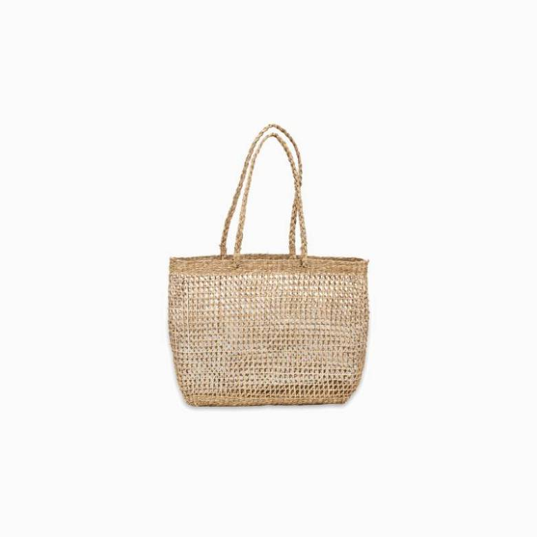 Small Handwoven Open Weave Shopping Basket