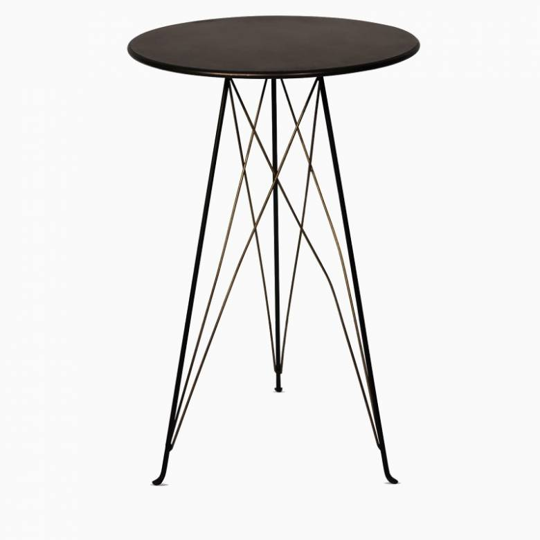 Small Industrial Style Side Table On Tripod Legs
