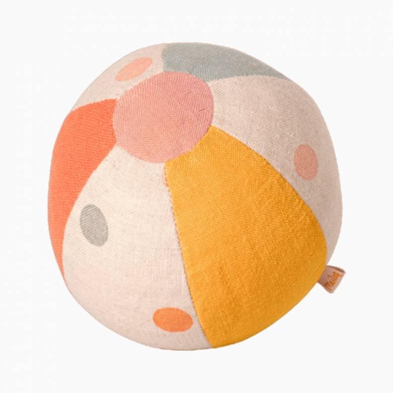 Small Linen Rattle Ball By Maileg 0+