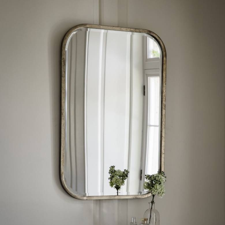 Logan Silvery Gold Rectangular Mirror 65x95cm