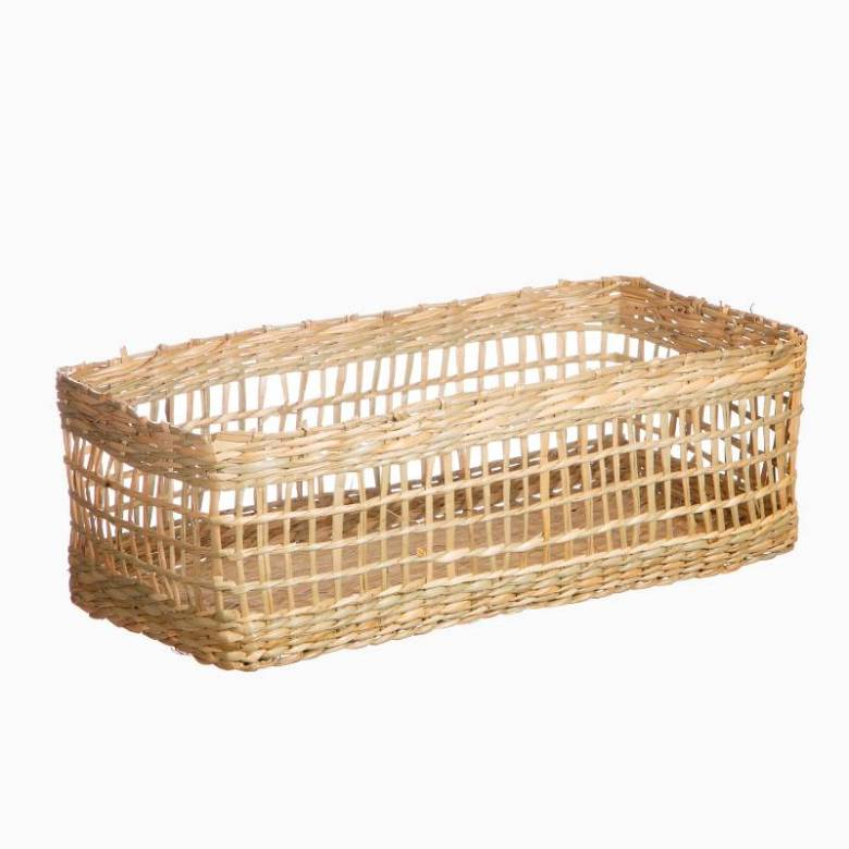 Small Rectangular Woven Seagrass Basket