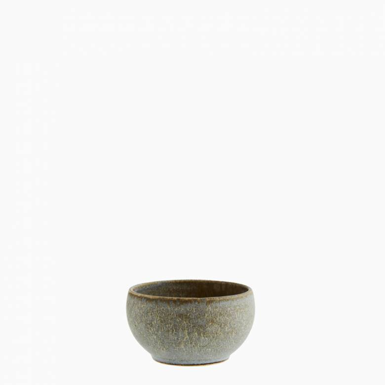 Small Stoneware Bowl In Taupe 11.5cm