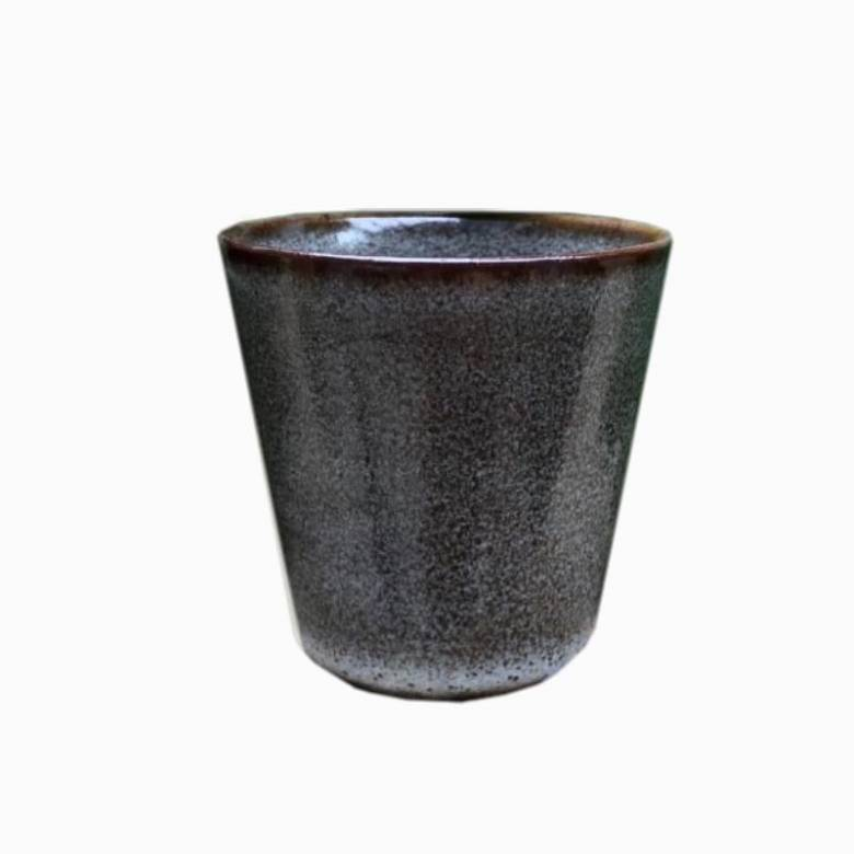 Small Stoneware Cup In Slate Grey