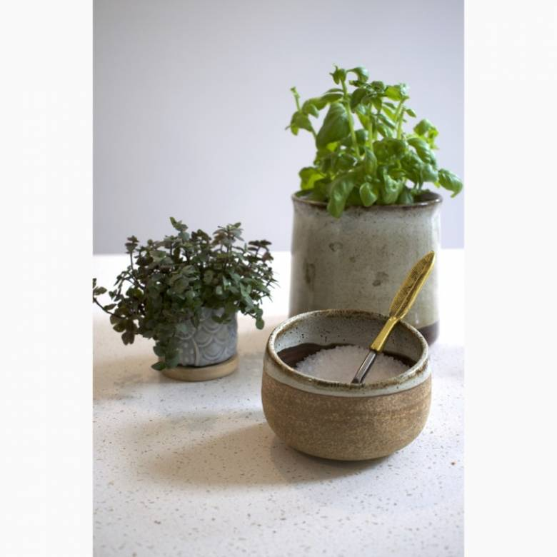 Small Stoneware Glazed Bowl
