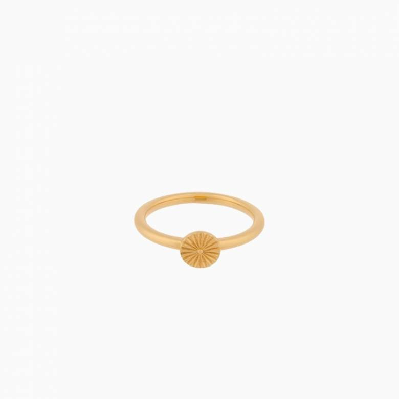 Small Sun Ring In Gold By Pernille Corydon