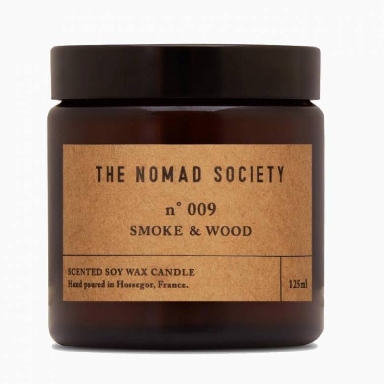 Smoke & Wood - Scented Soy Candle In Glass Jar 120ml