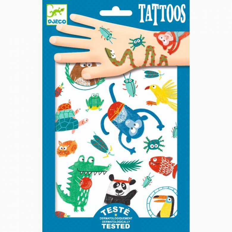 Snouts Temporary Tattoo Pack By Djeco 3+