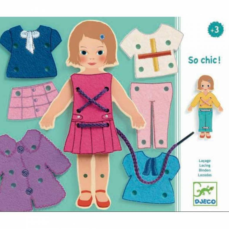 So Chic Lacing Cards 3yr+