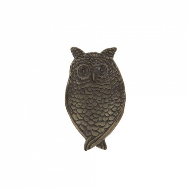Brass Owl Trinket Dish
