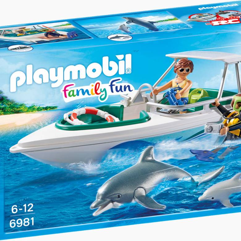 Driving Trip With Speedboat Playmobil 6981