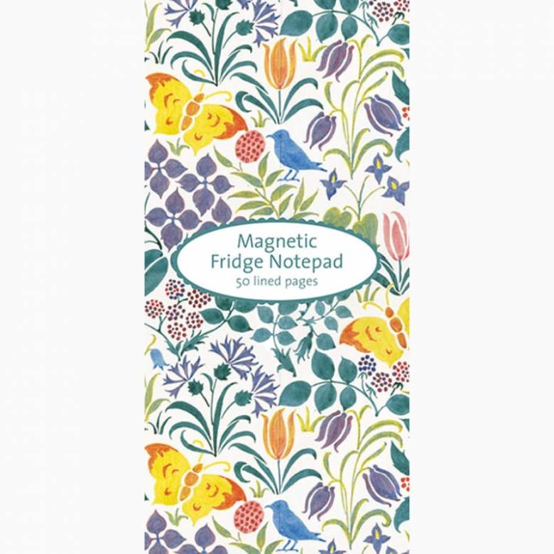 Spring Flowers & Butterflies - Magnetic Notepad