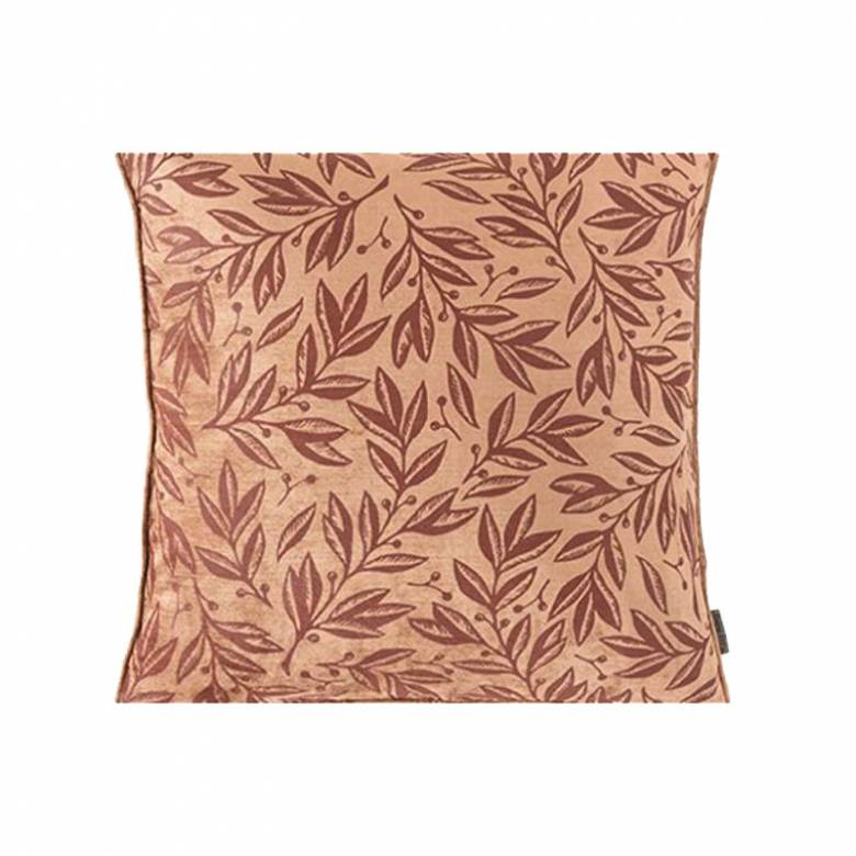 Square Cille Velvet Cushion In Cumin