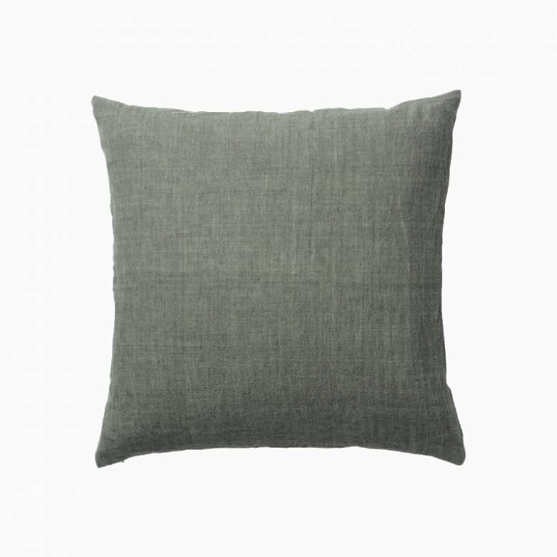 Square Linen Cushion In Army