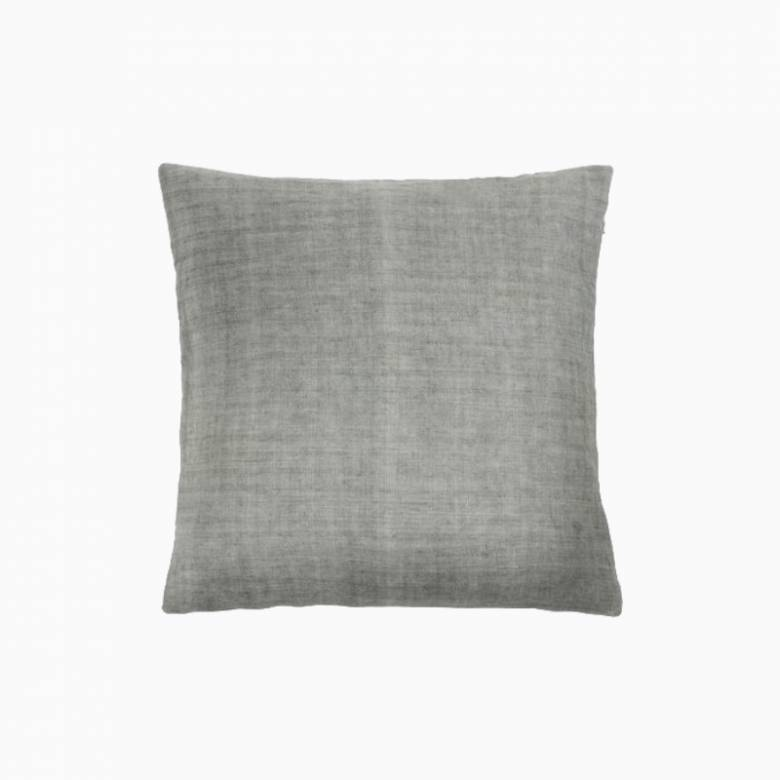 Square Linen Cushion In Moss