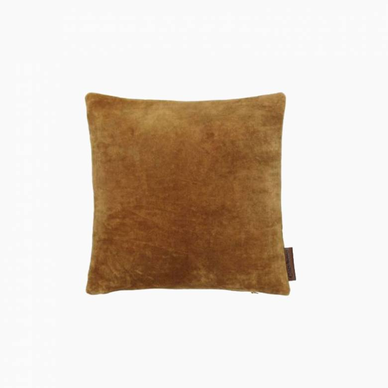 Square Mini Velvet Cushion In Cumin