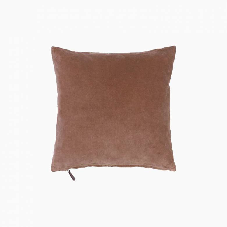 Square Mini Velvet Cushion In Rouge