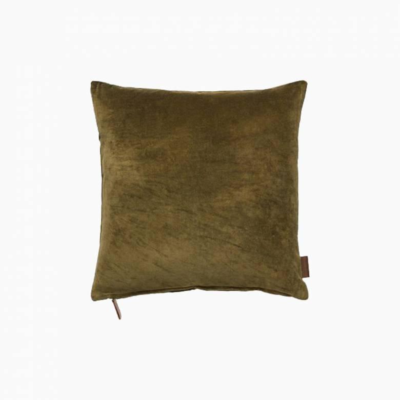 Square Soft Velvet Cushion In Mustard