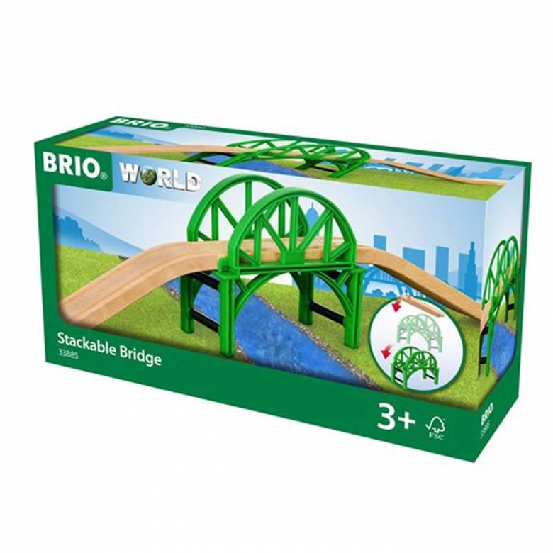 Stackable Bridge BRIO Wooden Railway Age 3+