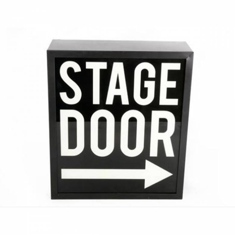 Stage Door Illuminated Sign Wall Mount Box Sign.