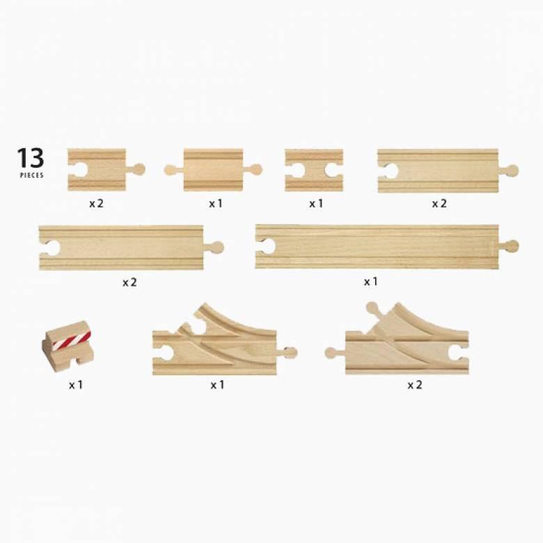 """Starter Track Pack """"B"""" BRIO Wooden Railway Age 3+"""