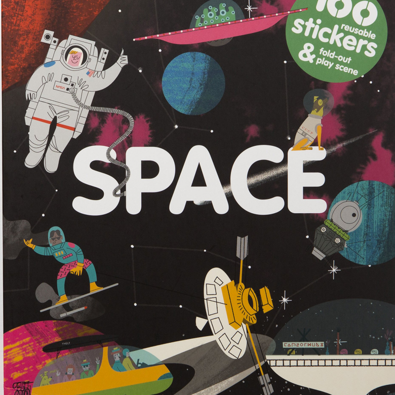 Stickyscapes: Space Sticker Book