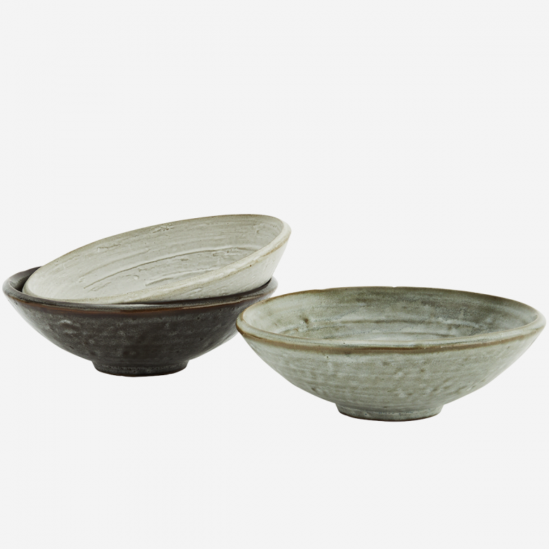Stoneware Bowl In Light Stone